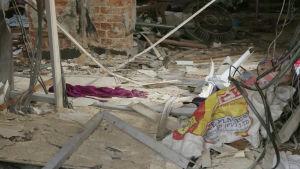 Skador efter explosion i St Anthony-kyrkan i Colombo
