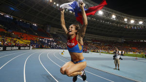 Jelena Isinbajeva vann VM-guld på hemmaplan 2013.