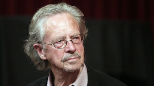 Austrian novelist Peter Handke prior to an interview at the Metro cinema in Vienna, Austria, 16 October 2014.