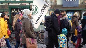 Klimatmarschen i Helsingfors inför klimatmötet i Paris