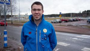 Andreas Hindrén ställer upp för SFP i kommunalvalet 2017.