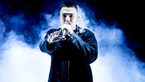 Den svenska artisten Liamoo under genrepet till Melodifestivalen i Göteborg 2018