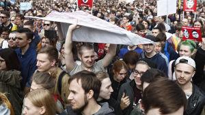 Demonstration i Moskva för fritt internet