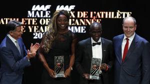 Årets bästa friidrottare premierades i Monaco.