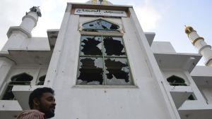 Moskén Jumha  efter en attack i Minuwangoda, Sri Lanka  den 14 maj 2019.