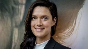 Krista Kosonen Helene-elokuvan lehdistötilaisuudessa