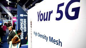 Vy från elektronikmässan Consumer Electronics Show i Las Vegas den 9 januari 2020.