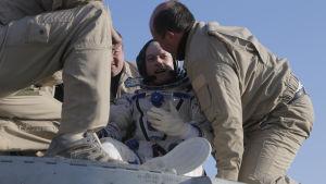 Astronauten Steve Swanson återvände från ISS i en rysk rymdfarkost förra veckan.