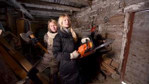 Lina Puronen och Maija Waris i tv-serien Finnomani