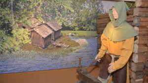 Livet utanför borgen i utställningen om Raseborgs slott.