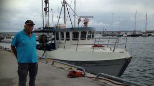 Förra gången Gazprom byggde här var det väldigt positiva effekter, säger yrkesfiskaren Bertil Klingvall,