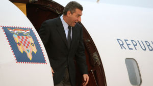 Ante Gotovina landar i Zagreb efter att han har blivit frikänd.