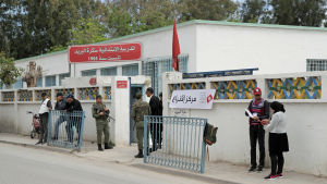 Vallokal i Tunis under det tunisiska lokalvalet 2018.