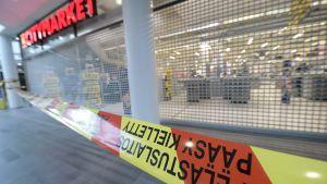 Citymarket i Myyrmanni köpcentrum i vanda är stängt på grund av en kemikalieolycka.
