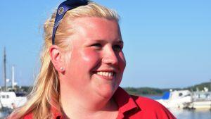 Fanny Mangström är aktiv i Ingå Sjöräddare rf.