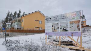 Nybyggt hus i Söderkulla