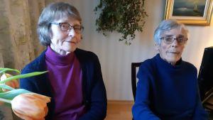 Else-Maj Slotte och Mona Nieminen.