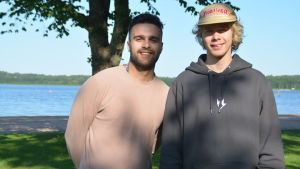 Nizar Ben Othman och Jonas Grönqvist.