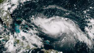 Orkanen Dorian närmar sig Bahamas och Florida den 30 augusti 2019.