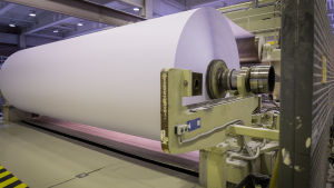UPM:s pappersmaskin vid fabriken i Kymi.