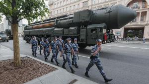 Den ryska interkontinentala missilen RS-24.