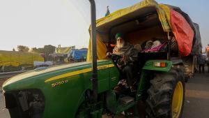 Demonstrerande jordbrukare i Haryana, Indien 14.12.2020