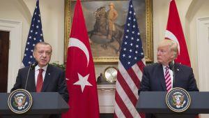 Recep Tayyip Erdogan och Donald Trump