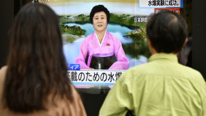 Beskedet om Nordkoreas sjätte kärnprovsprängning kom via nordkoreanska tv-nyheter
