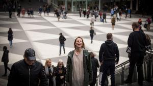 Ruotsinsuomalainen muusikko, laulaja ja taiteilija Anna Järvinen, Tukholma, 6.10.2017.