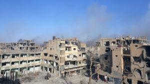 Deir ez-Zor i Syrien bombas