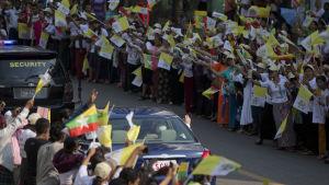 Påven på besök i Burma.