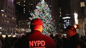 Polis i centrala New York i december 2017.