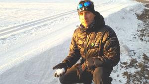 Kim Lönnström som tränar Borgå Akilles juniorlängdåkare