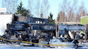Resultatet av branden den 2:a mars 2018 vid AT-tuote i Sibbo