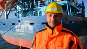 Bengt-Erik Rosin, vice vd för rederiet Meriaura