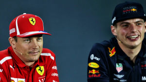 Kimi Räikkönen och Max Verstappen.