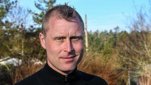 Joakim Bergqvist, verksamhetsledare vid Borgå jaktvårdsförening