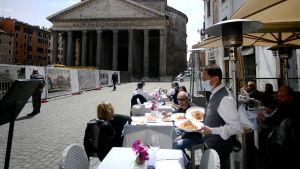 Uteservering i Rom