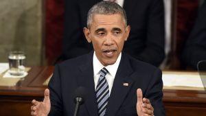 President Barack Obama talar till nationen 13.1.2016.