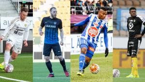 Billy Ions, Timo Furuholm, Alfredo Morelos och Gbolahan Salami favoriter till titeln som skyttekung 2017.