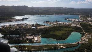 USA:s flottbas på ön Guam.