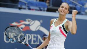 Karolina Pliskova firar i US Open.
