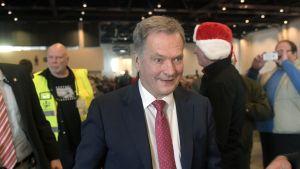 President Niinistö besökte de mindre bemedlades jul