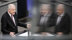 Horst Seehofer, Tysklands inrikesminister.