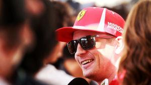 Kimi Räikkönen intervjuas