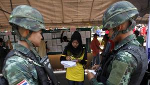 Militären och den styrande juntan överskuggar valet i Thailand som knappast kommer att vara helt fritt och rättvist