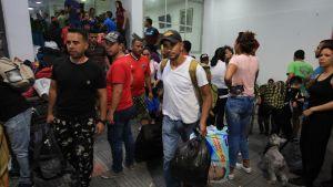 Venezuelanska flyktingar i Colombia den 15 maj 2019.