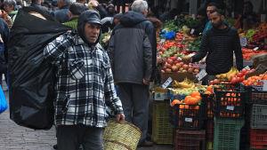 Grönsaksmarkand i Aten.