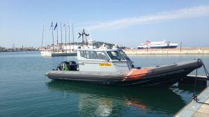 Den finländska gränsbevakningens båt.