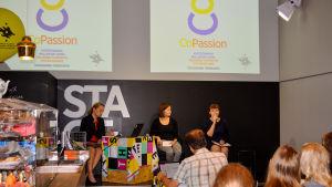 Diskussion på Thinkfest om frivilligarbete på arbetstid.
